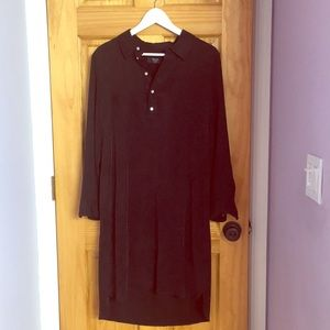 Brass Hi-Lo Black Shirtdress
